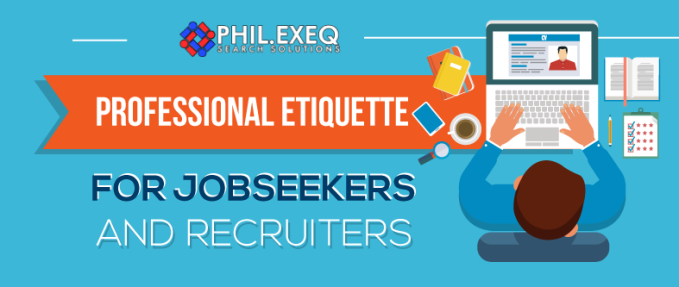 Professional Etiquette For Jobseekers And Recruiters(Infographic)